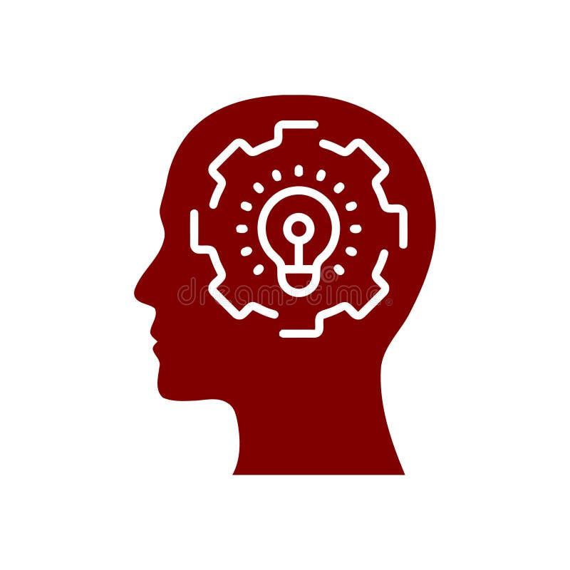 Cyfrowej ludzka g?owa, m?zg, technologia, m??czyzna, g?owa, pami??, technologia Kreatywnie umys? wa?koni si? kolor ikon? ilustracji