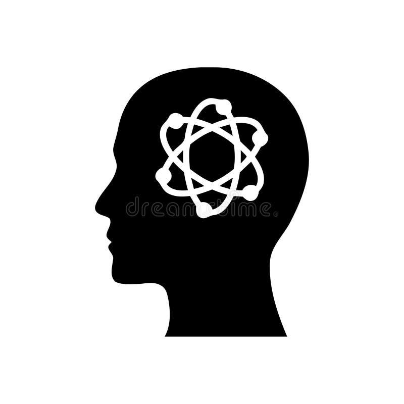 Cyfrowej ludzka g?owa, m?zg, technologia, m??czyzna, g?owa, pami??, technologia umys?u czerni koloru Kreatywnie ikona royalty ilustracja