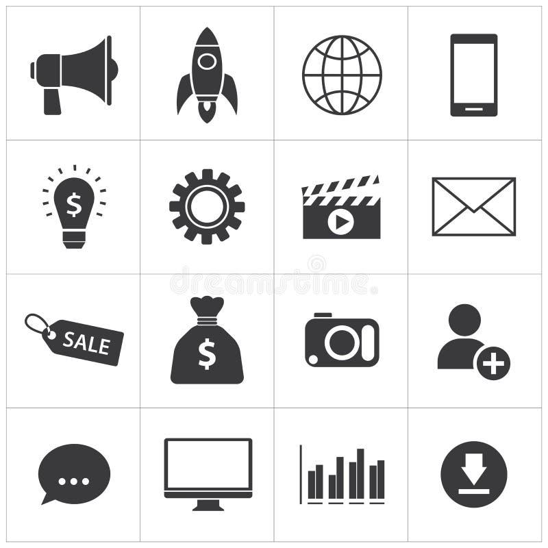 Cyfrowej marketingowa ikona ilustracja wektor