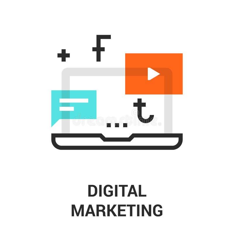 Cyfrowej marketingowa ikona ilustracji