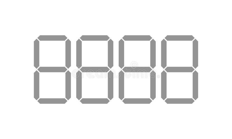 Cyfrowej metki szablonu cyfry wektorowe liczby ilustracja wektor