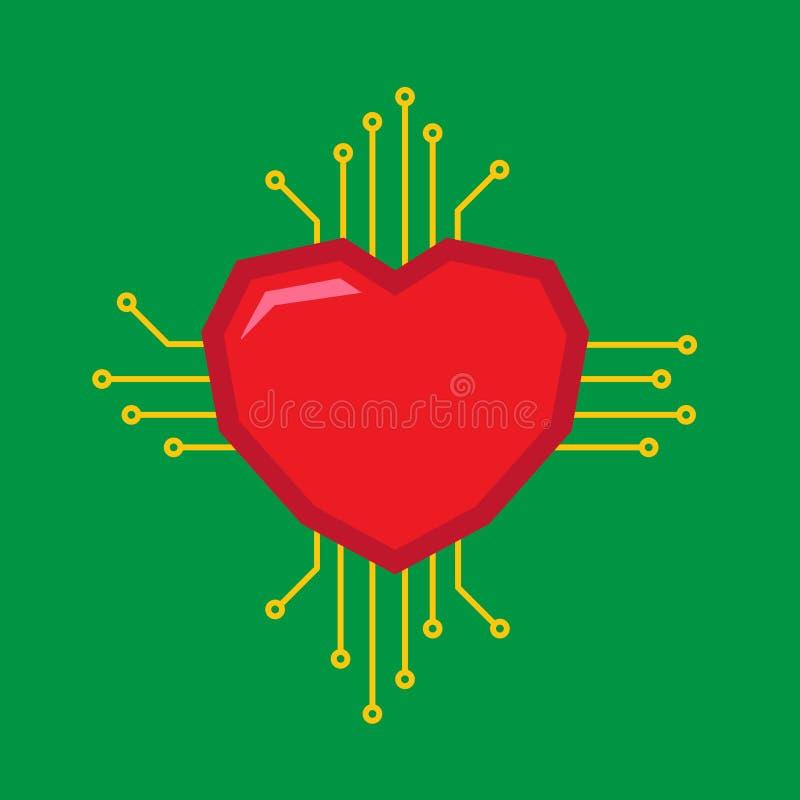 Cyfrowej miłości logo obraz royalty free