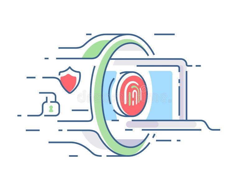 Cyfrowej ochrona informacja ilustracji