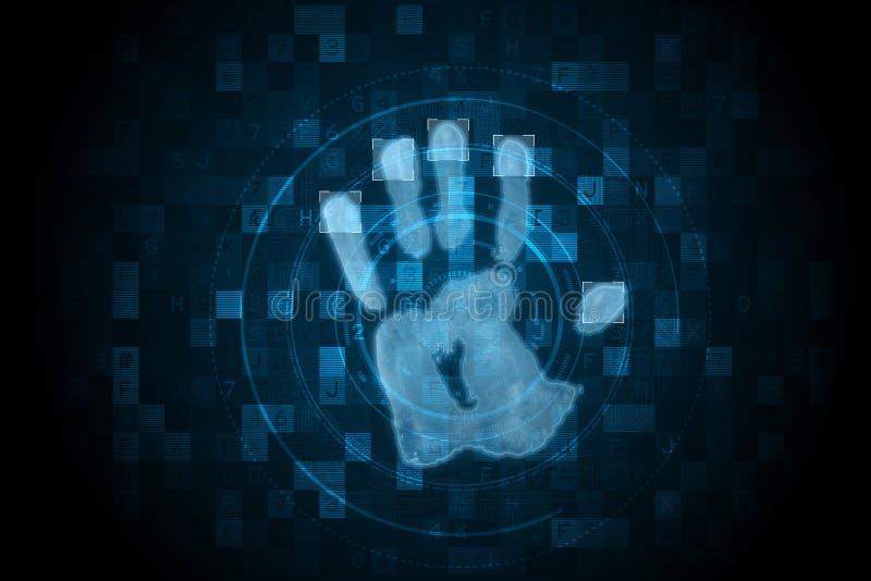 Cyfrowej ochrony ręki druku obraz cyfrowy ilustracji