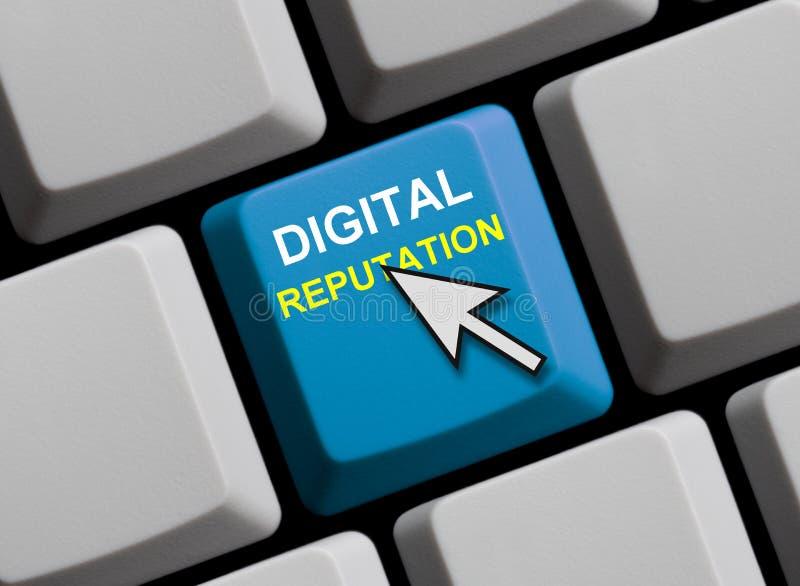 Cyfrowej reputacja online obrazy royalty free