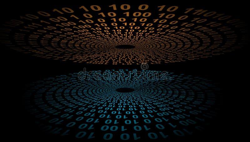 Cyfrowej sieci technologia Technologii komunikacja ilustracja wektor