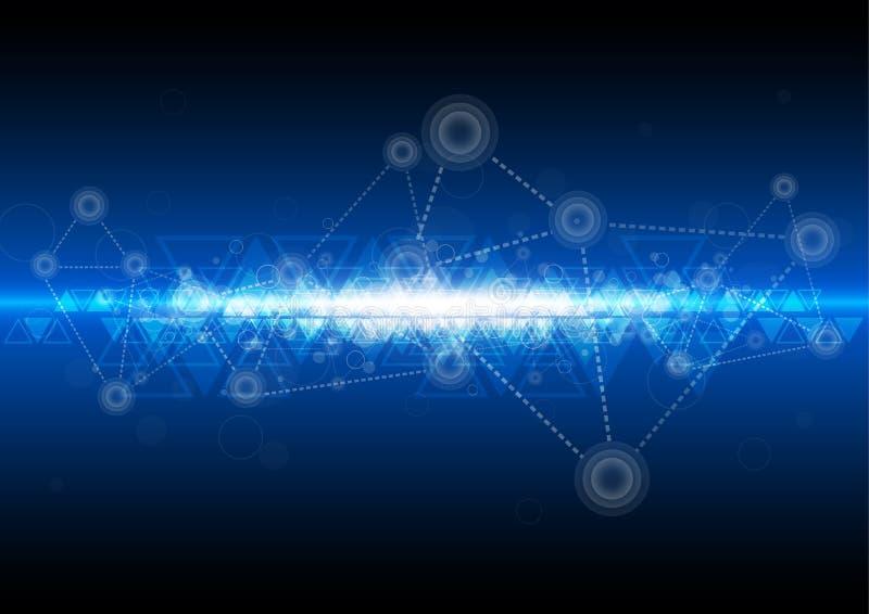 Cyfrowej sieci technologii tło ilustracji