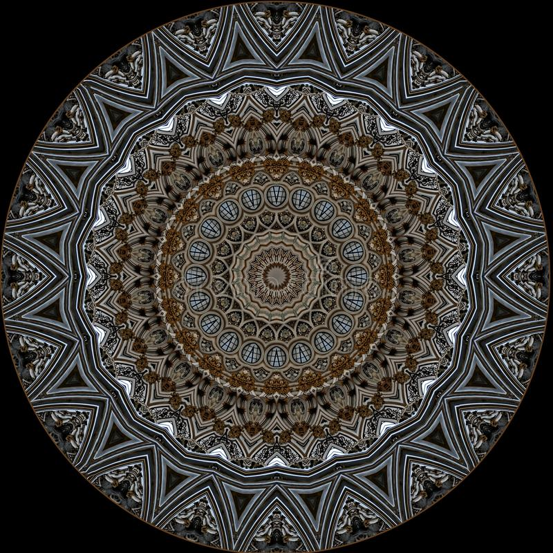 Cyfrowej sztuki projekt Filigree orientalny wzór royalty ilustracja