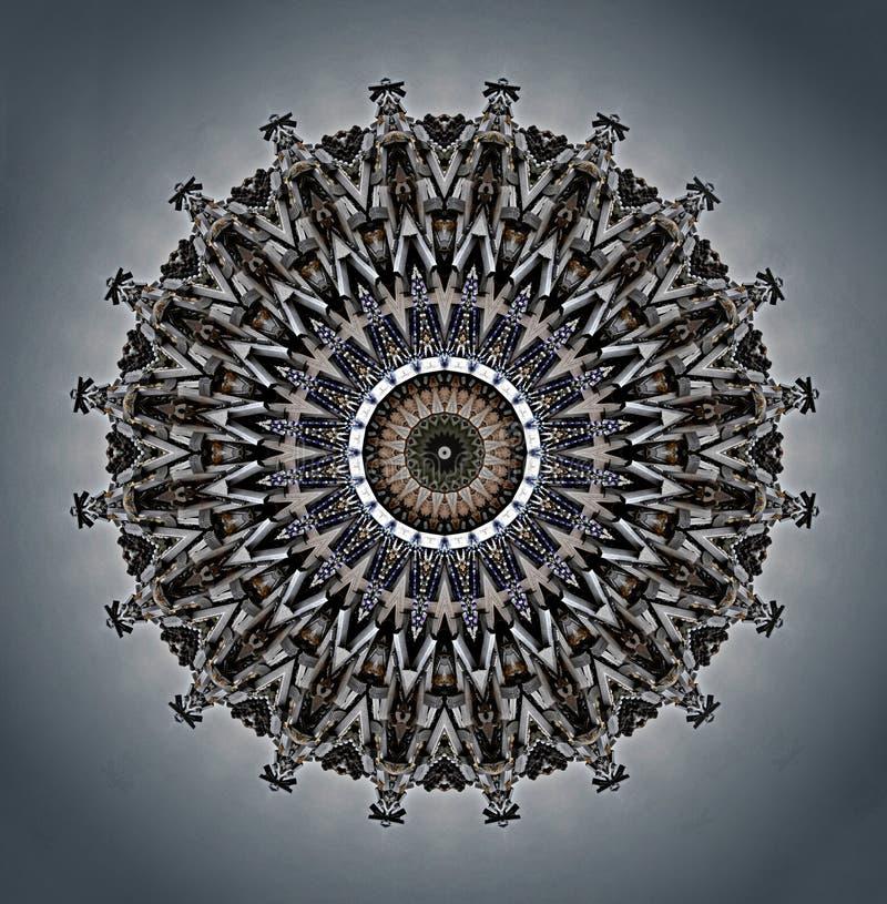 Cyfrowej sztuki projekt z perłami ilustracji