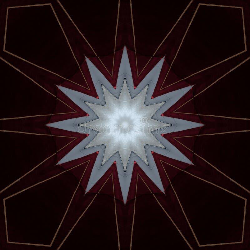 Cyfrowej sztuki projekta gwiazda na burgundian czerwieni royalty ilustracja