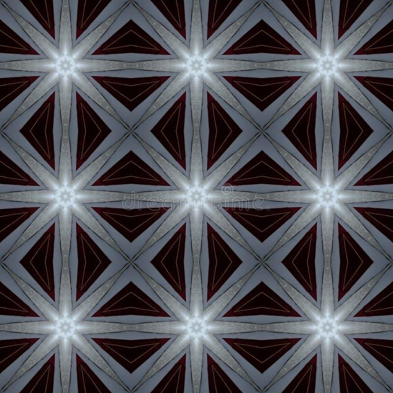Cyfrowej sztuki projekta gwiazdy na burgundian czerwieni ilustracja wektor