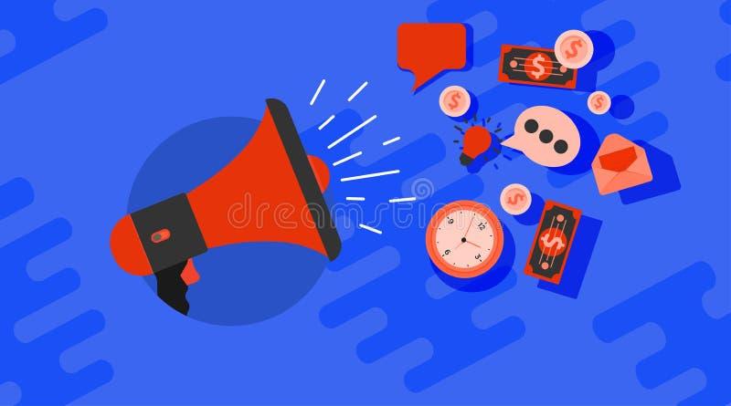 Cyfrowej technologii strategii ikony ogólnospołeczny medialny biznesowy wektor Online interneta zarządzania sieci pojęcie Sieć ko royalty ilustracja