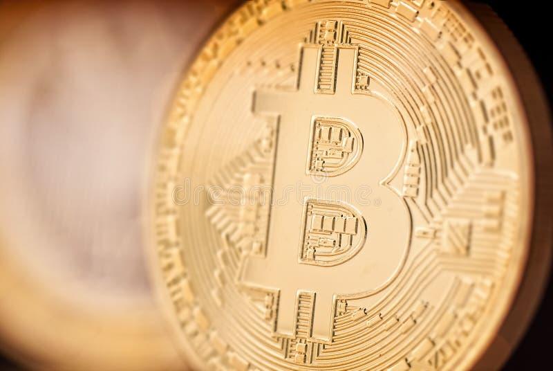 Cyfrowej waluta Bitcoin obrazy stock