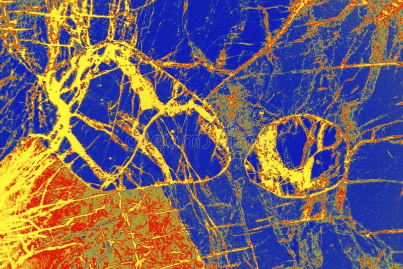 Cyfrowo manipulujący, abstrakcjonistyczny micrograph olivine pyroxenite z polariztion zdjęcia royalty free
