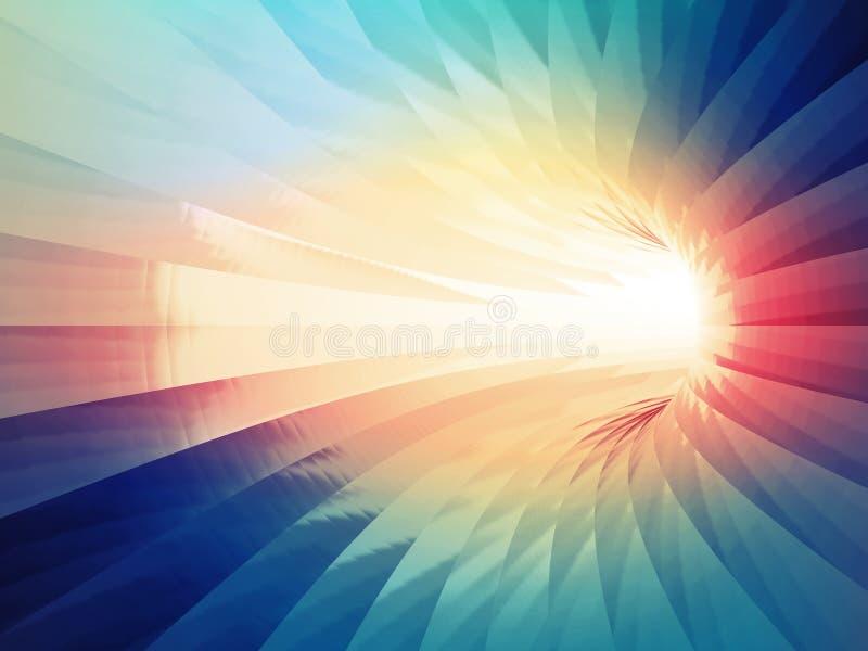 cyfrowy abstrakcyjne tło Kolorowy przegięty tunel ilustracji