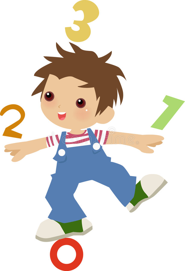 cyfrowy akrobata dzieciak ilustracji