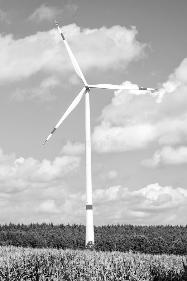 cyfrowy alternatywnego źródła energii ilustracja krajobrazu wiejskiego turbina wiatr zdjęcie royalty free