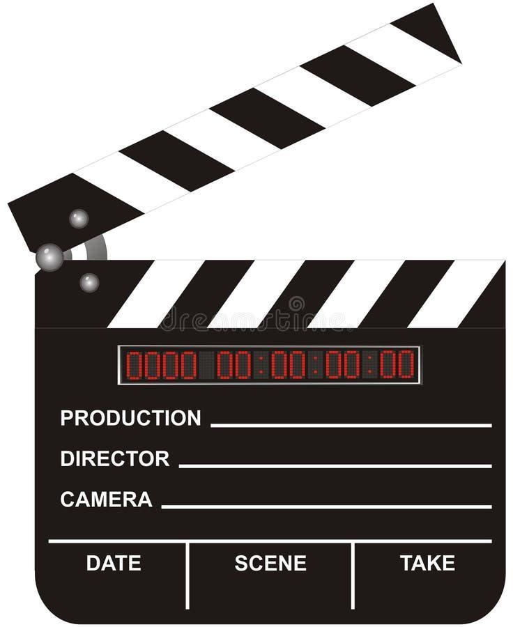 cyfrowy clapboard film otwarte ilustracji