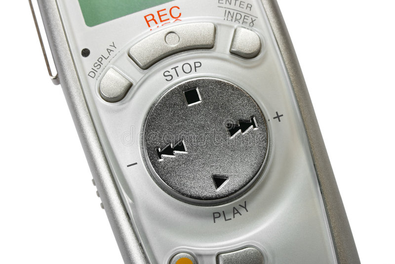 cyfrowy dyktafonu makro obrazy stock
