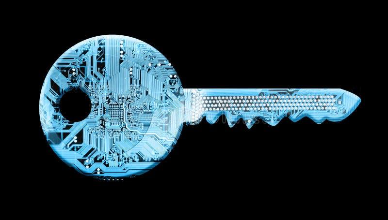 cyfrowy klucz ilustracja wektor