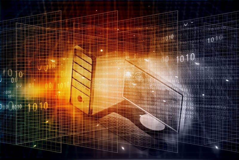 Cyfrowy komputer ilustracji