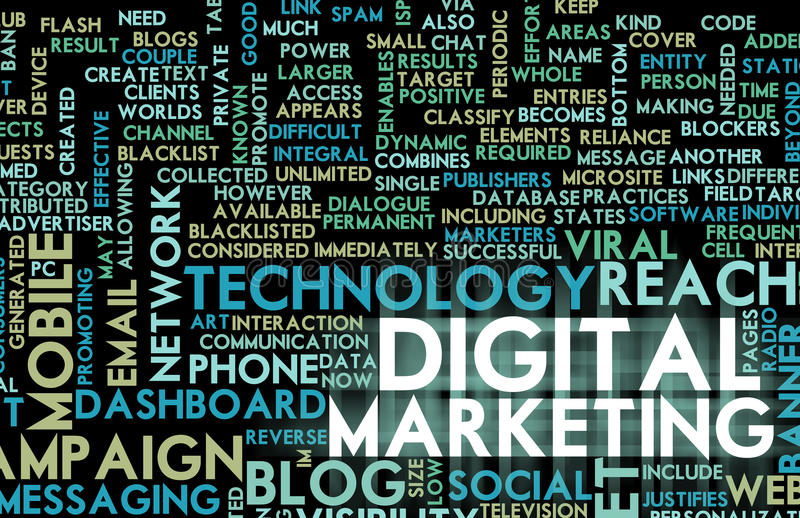 cyfrowy marketing ilustracja wektor