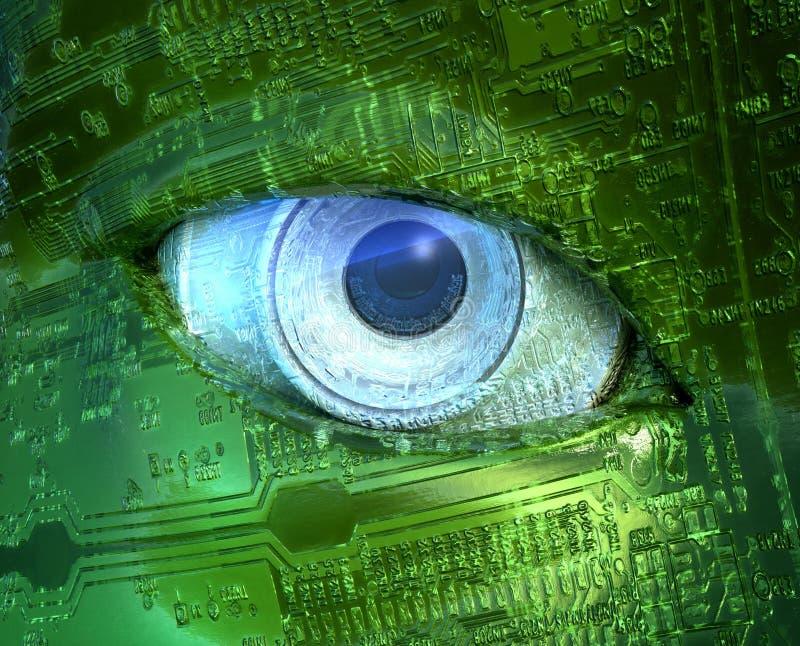 cyfrowy oko ilustracja wektor