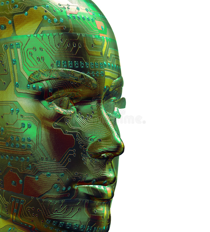 cyfrowy portret człowieka 3 d royalty ilustracja
