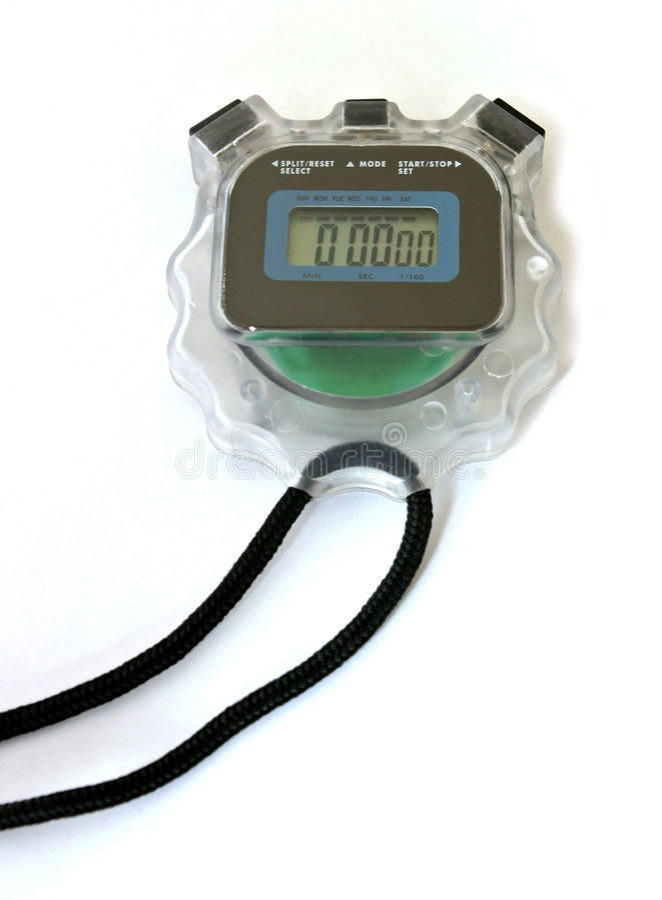 cyfrowy stopwatch zdjęcia stock