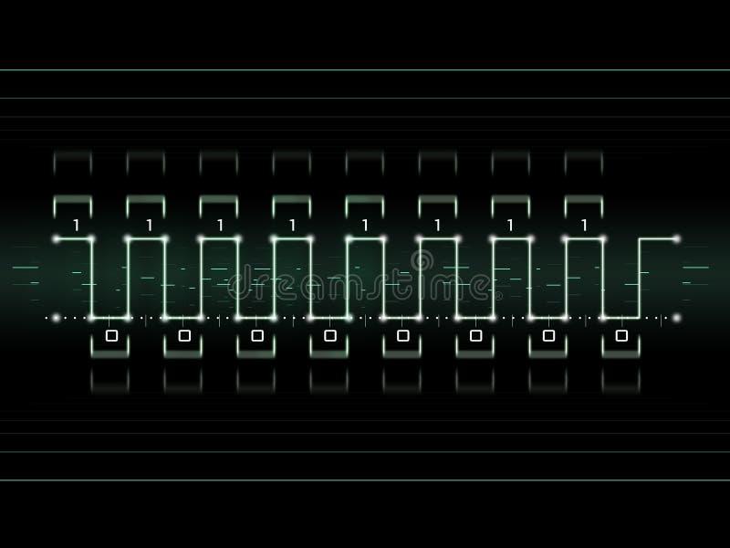 cyfrowy sygnał ilustracji