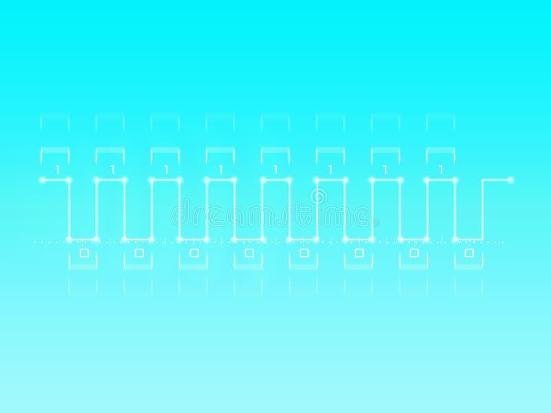 cyfrowy sygnał ilustracja wektor