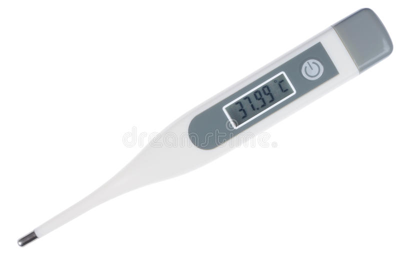 cyfrowy termometr obraz royalty free