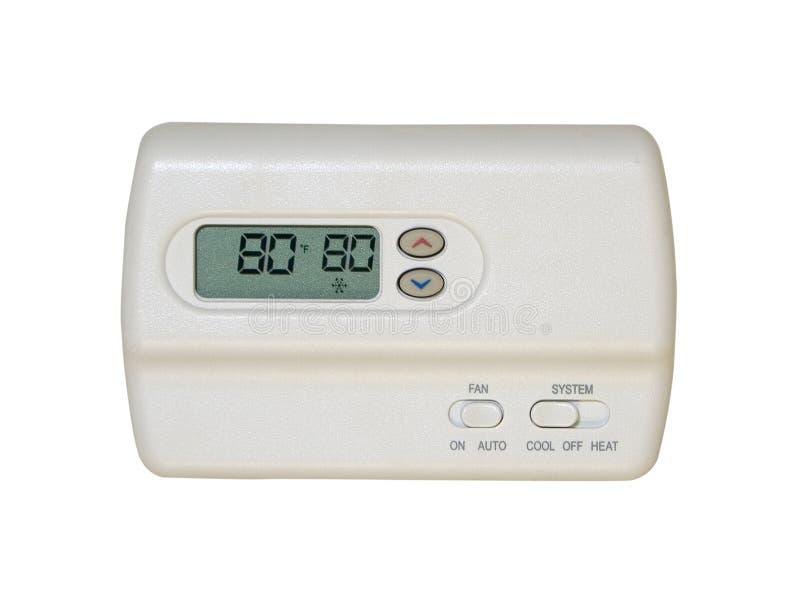 cyfrowy termostat obraz royalty free