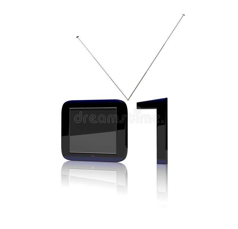 cyfrowy tv royalty ilustracja