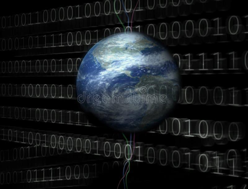 cyfrowy wszechświat 3 d royalty ilustracja