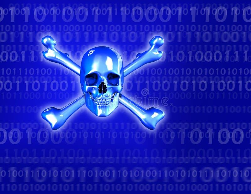 cyfrowy zagrożenia royalty ilustracja
