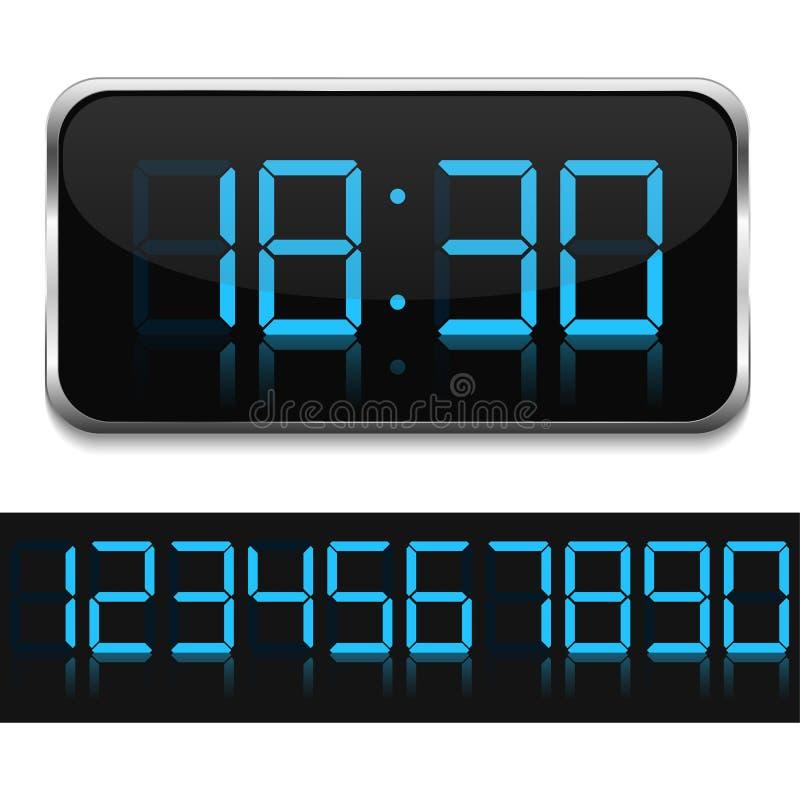 Cyfrowy zegar ilustracja wektor