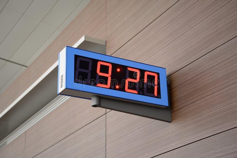 Cyfrowy zegar zdjęcie royalty free