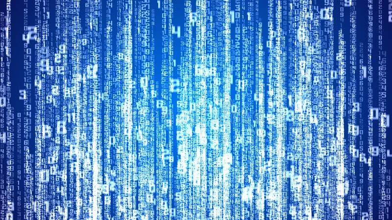 Cyfrowych białe liczby jako kodu deszcz