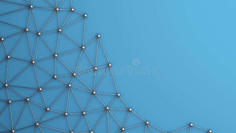 Cyfrowych dane i sieć związku trójbok wykłada i sfery ilustracja wektor