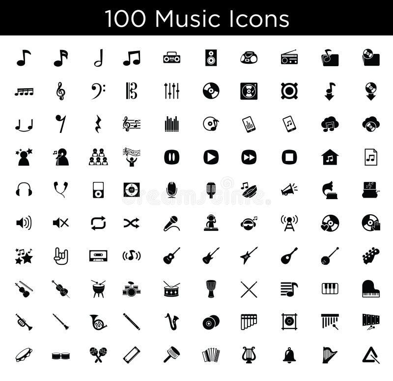 cyfrowych dróg wycinek ikon ilustracyjnego zawierać muzycznego zadrapanie royalty ilustracja