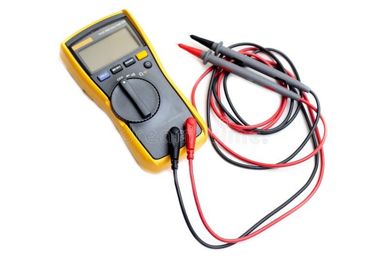 Cyfrowych elektronika multimeter zdjęcie stock