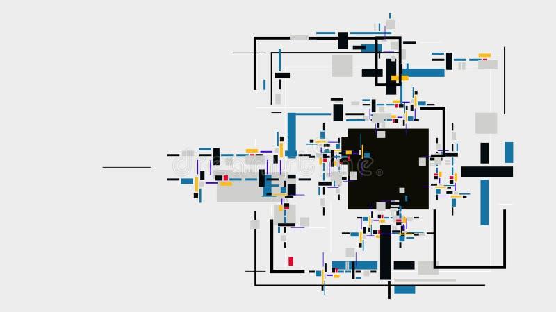 Cyfrowych elementów abstrakta geometryczny tło ilustracja wektor