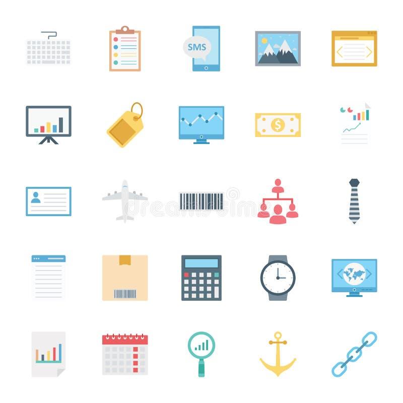 Cyfrowych marketing Odizolowywać Wektorowe ikony Ustawiać mogą łatwo redagować lub modyfikujący ilustracji