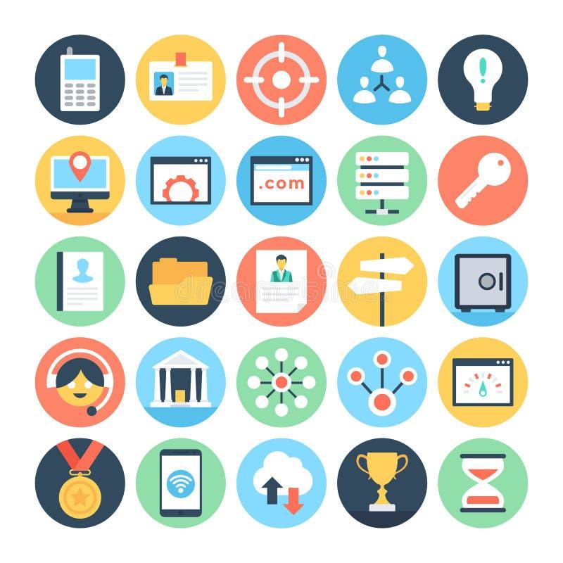 Cyfrowych Marketingowe Wektorowe ikony 5 ilustracji