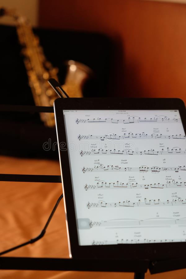 Cyfrowych muzyczne książki obrazy stock