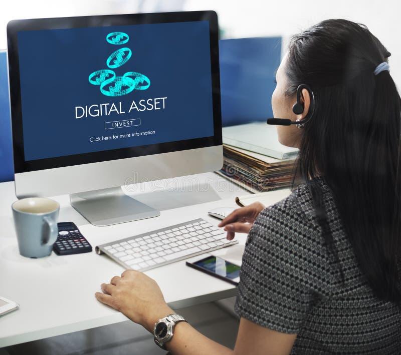 Cyfrowych wartości pieniądze biznesu Finansowy pojęcie zdjęcia stock