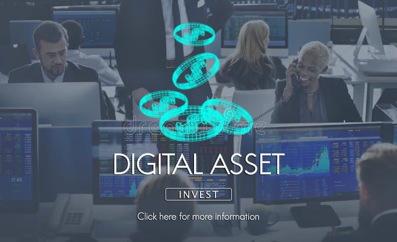 Cyfrowych wartości pieniądze biznesu Finansowy pojęcie zdjęcie stock