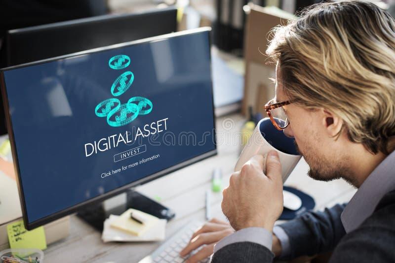 Cyfrowych wartości pieniądze biznesu Finansowy pojęcie zdjęcie royalty free