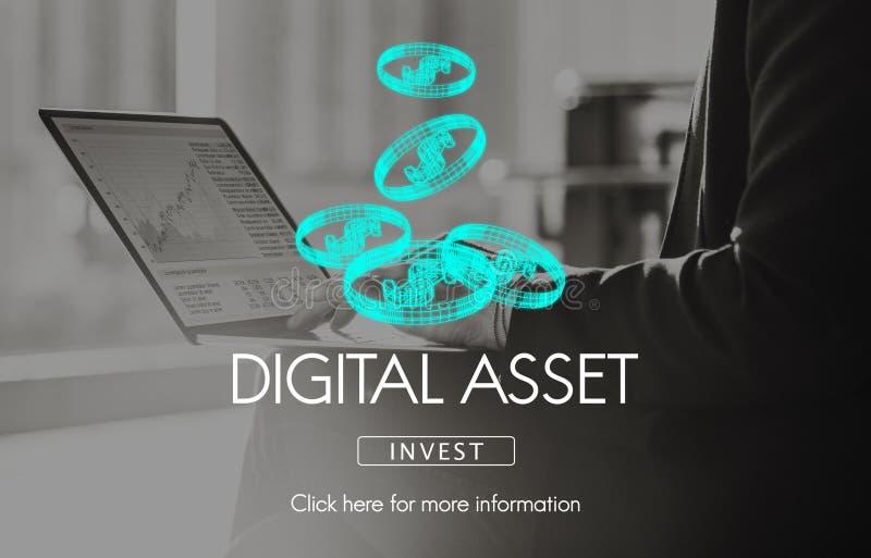 Cyfrowych wartości pieniądze biznesu Finansowy pojęcie fotografia stock